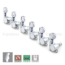 NEW Gotoh SG381-05 MG Magnum Locking  6 in Line Set Locking Tuners  - CHROME