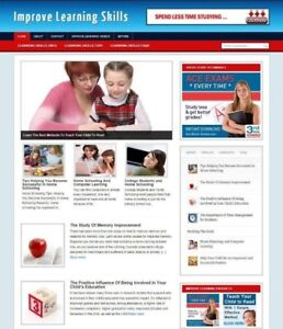 IMPROVE LEARNING SKILLS WEBSITE WITH ARTICLES & AFFILIATE STORE + DOMAIN