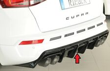 Rieger Diffusor für Seat Ateca Cupra 5FP mit AHK Heckansatz schwarzglanz