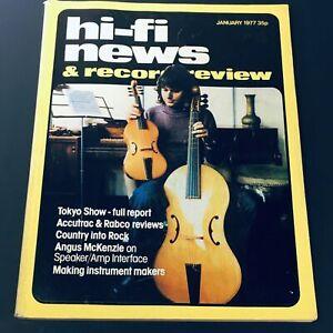VTG HiFi News & Record Review January 1977 - Angus McKenzie / Tokyo Show