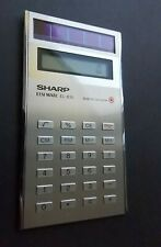 Sharp EL-835 Elsimate Vintage from 1985 VERY RARE Solar Powered Calculator WORKS