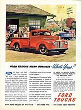 Old Print. Red 1946 Ford Pickup Truck Advertisement