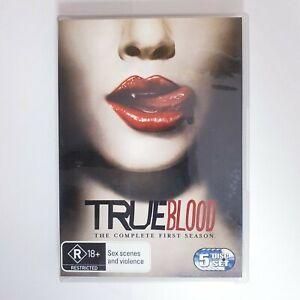 True Blood Season 1 TV Series DVD Region 4 AUS - 5 x Disc Set Free Postage
