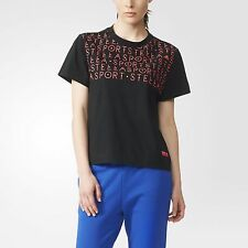 New  ADIDAS WOMEN'S short sleeve top Size S /STELLASPORT Graphic women's T-shirt