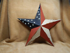 "Patriotic Americana Metal Star Wall Decor Barn 18"" Heartside Collection"
