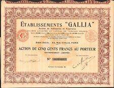 Etablissements GALLIA, Pelleteries & Fourrures (K)