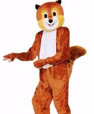 Scamper the Squirrel Costume Mascot Deluxe Plush Furry Animal Unisex - Fast -