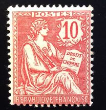 France N° 124 10 C Rose Neuf ** Gomme D'origine Intacte TB Cote 225€