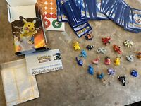 Lot Of Miniature Pokemon Figures And Cards