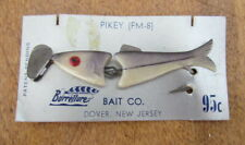 Vintage Burrellure Bait Co Pikey Fm-8 jointed fish lure unused on card