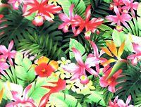 TP038 Tropical Floral Hawaiian Tiki Hula Waikiki Cotton Quilt Fabric