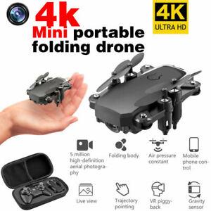 AU 4K HD Wide Angle Dual Camera Quadcopter WiFi FPV RC Drone Foldable