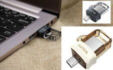 SanDisk USB 32G 64G Ultra Dual  SDDD3 USB3.0 130MB/s Read USB Flash micro Drive
