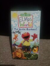 Sesame Street - Elmo's World: The Great Outdoors - VHS (2003, Sony Wonder)