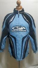 Coldwave Womens Snowmobile Winter Jacket Baby Blue Size Ladies Large EUC 3533