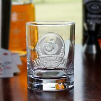 Personalized Whiskey, Scotch, Bourbon Glasses Engraved SET OF 4 (M8)