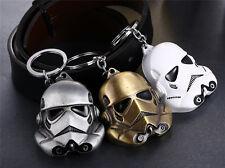 Star Wars Stormtrooper Jedi Key Chain Helmet Storm Trooper Pendant Key Ring New