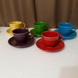 Homer Laughlin Fiesta Tea Cup and Saucer Set You Choose