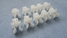 SEAT WHITE HOOD RETAINER BONNET ROD STAY GRIPPER HOOK ARM CLIPS 10PCS