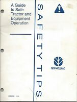 NEW HOLLAND SAFETY TIPS MANUAL