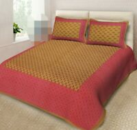 Attractive Print Cotton Double Bed Sheet & Duvet Cover 4Pillow Cover For Gift jg