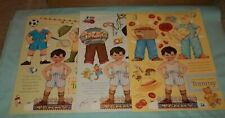 "3 Sheets Mary Engelbreit Magazine ""Tommy"" Paper Dolls (8 1/2 x 11) Uncut"