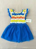 Cat & Jack - Girls toddler Tulle Hearts Dress with bloomers Blue- Size 12 M