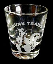 Shot Glass Shooter SKUNK TRAINS Clear LIBBEY Jigger FREE SHIP USA
