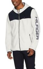 Tommy Hilfiger Mens Fleece Zip Jacket Flag Logo Navy/Ice...