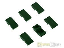 6x LEGO® 11477 Bogen-Stein schräg 2x1 gerundet rund dunkelgrün NEU dark green