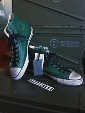CONVERSE All Star John Varvatos Hi Top Leather Green Off White Sole SIZE 12