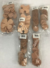New listing Lot Of Great Shapes Leather Sun,Clover,Fleurdelis,App le