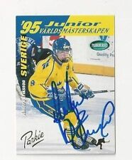 1995 Parkhurst Autographed Hockey Card Anders Eriksson Team Sweden