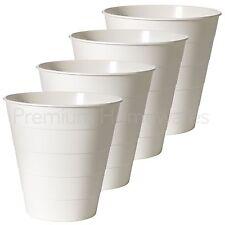 4 x IKEA FNISS 10L White Plastic Waste-Paper Bins