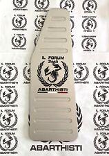 ABARTH 500 595 695 competizione PEDANA POGGIAPIEDE POGGIAPIEDI ACCIAIO INOX