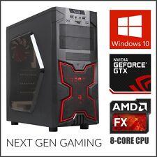 8-Core Gaming Computer Desktop PC Tower 2TB HD 16GB RAM Nvidia GTX 1060