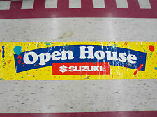 Suzuki Open House Banner Sign 34 in x 144 in with 10 Grommets For Easy Hanging