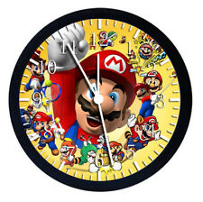 Super Mario Black Frame Wall Clock Nice For Decor or Gifts W42