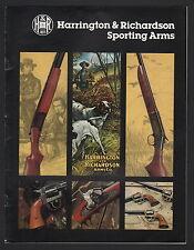 Harrington & Richardson Sporting Arms Catalog - 1978
