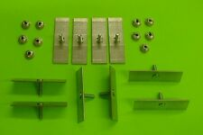 10 Plymouth Body Side Moulding Fasteners 2-1/2 x 3/4 Perforated Clips Bolts 378