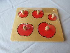 Puzzle aus Holz Holzpuzzle Steckpuzzle 5tlg. Apfel Äpfel für die Kleinsten NEU