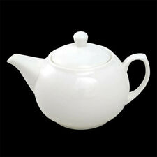 Orion White Ceramic Teapot 2 Cup 450ml 15.75oz Cafe Hotel Quality NEW