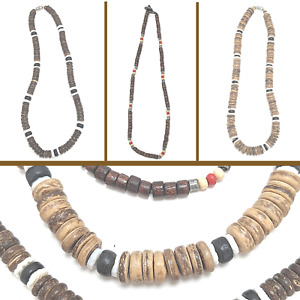 Necklace Men Surf Beach Festival Ethnic Natural Unisex Coco Shell Jewellery