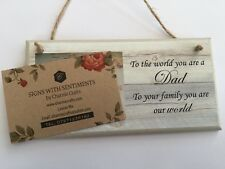PERSONALISED PLAQUE, SIGN. PHOTO & QUOTE. BIRTHDAY, THANK YOU GIFT,  DAD, FATHER