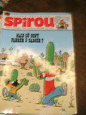 Spirou N° 3674 2008 BD Parker and Badger Pierre Tombl Garage Isidore Nelson