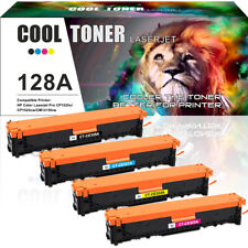 4 Pack Set for HP 128A CE320A Color Toner LaserJet Pro CM1415fnw CP1525 CP1525nw