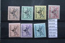 FRANCOBOLLI VATICANO SEDE VACANTE 1939 NUOVI** (F98340)