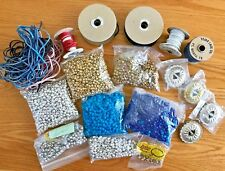 Concho Craft Lot 43 Conchos + 4 lbs Pony Beads + Leather Laces + Instructions