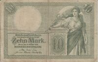 Germany banknote - 10 zehn mark - year 1906 - German Empire - Reichskassenschein