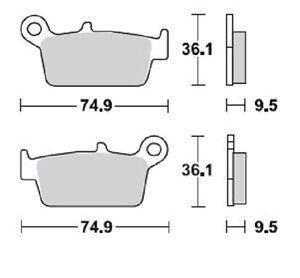 BRAKING Brake Pads Rear Gas Gas Ec 400 2002 Brake Pads Rear